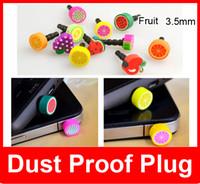 Wholesale New Dust Proof Plug Anti Dust Cap Headphone Dustproof mm Fruit series Anti Dust Plug Iphone6 plus