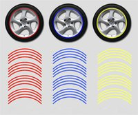auto decals stripes - 16 Strips Reflective Car Motorcycle Rim Stripe Wheel Decal Tape Stickers For Auto Car Motorcycle