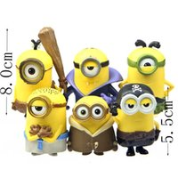 animated pirate - 6pcs despicable me pvc figures despicable me minions cosplay Vampire Primitive Pirate animated cartoon dolls cm figure