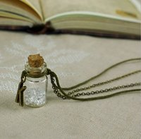 arrival birthday wishes - pc a New Arrival Birthday Crystal Wishing drift bottle pendant necklace