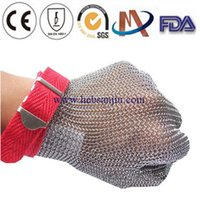 Wholesale Chain mail mesh protective glove Ring mesh glove Metal mesh glove Cut resistant glove Hand Protection Safety Gloves Meat Process