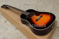 brand aaa - AAA Dreadnought Vintage Sunburst D Four Five Classic Acoustic Guitar can add fishman EQ