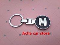 acura cars logo - Interior Accessories Key Rings High quality D black SEAT Altea Alhambra Leon Ibiza Logo Car KeyChain Key Ring Keyring Auto accessories