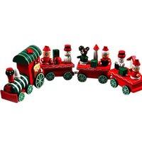 Wholesale 2015 Pieces Wood Christmas Xmas Train Decoration Decor Gift Indoor Christmas Decoration Rosonse