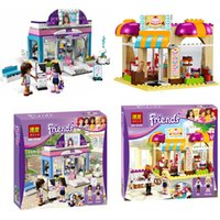 beauty shop toys - Bela Friends blocks for girls Butterfly Beauty Shop Building Blocks bricks Bakery Toast Shop Ice Cream education kids toys cheap HX