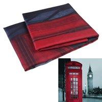 Wholesale DU Brand New x180cm London Style Waterproof Fabric Bathroom Shower Curtain With Curtain Hooks