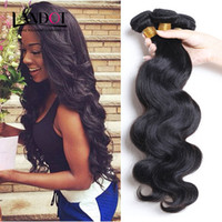 cheap black hair - Peruvian Brazilian Malaysian Indian Cambodian Virgin Hair Body Wave Cheap Human Hair Weave Wavy Bundles Natural Black Remy Hair Extensions