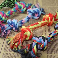 Wholesale Hot sales Pets dogs pet supplies Pet Dog Puppy Cotton Chew Knot Toy Durable Braided Bone Rope CM Funny Tool Toys DHL