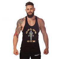 Wholesale 2015 Newest men gym tank tops Gymshark tank top Vest Stringer Bodybuilding Singlet cotton Sport Sportswear Men s Fitness Clothing