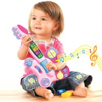 Wholesale 2015 Fashionable Educational Musical Kids Guitar Toy With Songs Lovable Baby Guitar Birthday Electric Guitar Gift