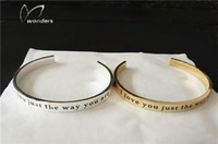 Wholesale 2016 Romantic Custom Engraved Words Bangle Bracelet For Women Personalized Love Expression Wedding Anniversary Gifts Jewelry b045