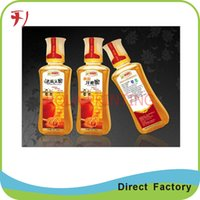 beverage label printing - Customized Cheap custom colorful printing strong adhesive orange juice label beverage label for bottle