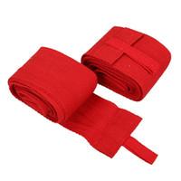 Wholesale 2PCS M Boxing Handwraps Bandage MMA Training Wrist Protect Punch Red PTCT