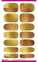 Wholesale full Nail WRAPS Art Sticker Water Transfer False Nails Foil decals Manicure Decor Tools Cover design golden gradual change