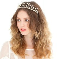 Wholesale 2015 Vintage Flowers New Hair Accessoies Crown Tiara Jewelry Crystal Rhinestone Pearl Bridal Hair Band Headpieces Wedding Clips CPA142