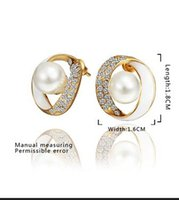 Wholesale 2014 Autumn New fashion gold plated crystal earrings big earrings