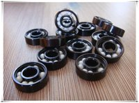 ball race bearings - Pro Blacken Hybrid Ceramic Bearings For Speed Racing Inline Skate Skateboard Longboard ABEC ZrO2 balls Bearing