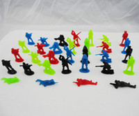 Wholesale 200pcs cm colors Plastic Soldier Toy Bulk Army Men Action Figures Toy Soldiers Poses Sent at Random Mix Color