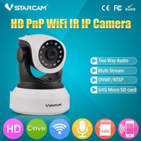 Wholesale VStarcam C7824WIP HD P IP Camera wifi Night Vision Camera IP Network Camera CCTV WIFI P2P Onvif IP Camera with db antenna