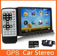 Android car audio dvd - FREE Rear Camera GPS MAP Double DIN Car DVD In Deck Stereo Bluetooth iPod TV Auto Video Car Audio Android Optional Radio Car DVD Video