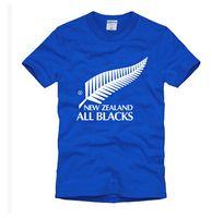 Wholesale Men T Shirts Fashion Rugby Team New Aealand All Blacks T Shirt Male Sports t shirts Short Sleeve Top Cotton Tee Shirts
