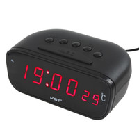 Wholesale New Black Large Screen Led Car Electronic Clock With Thermometer CEC_521