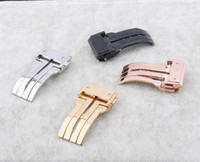 Wholesale New Black Silver Gold Rosegold Brand watchband buckle clasp