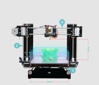 Cheap Hot selling Reprap Stampante 3D Printer 3d Prusa i3 Full Acrylic Frame MK8 Extruder LCD2004 of 2016
