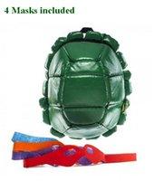 Wholesale backpacks tenage mutant ninja turtles bag turtle backpack including masks with original tag in stock student shoulder bag
