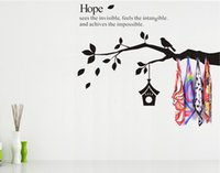 adhesive wall hooks - Mix Order large60X80cm Get hooks Wall Decor Sticker Vinyl Wall Art Stickers Decalshigh hand painted wall art blackhigh quality