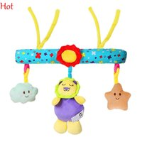 toddler bed - Hot Babies Toys Multifunctional Rattle Development Toys Cute Plush Dolls Hanging Bell Bed Ring Multi color Educational Toys Toddler SV017509