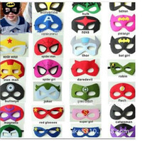 Wholesale DHL fast ship Superhero masks Style superhero mask Superman Batman Spiderman TMNT Frozen for Kids Party Costume super hero