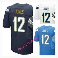 baby jones - Factory Outlet Men s Jacoby Jones Jersey Elite Navy Blue White Baby Blue Stitched Name And Number