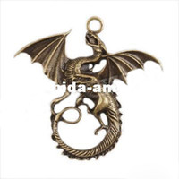 Beaded, Strands beaded jewelry crafts - Fashon Hotselling Dragon Charms New Alloy Pendants Fit Jewelry Fashion Crafts DIY