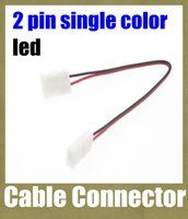 Wholesale cable connector pin female connector rgb led strip single color control wiring connector No Need Soldering pin connector dhl free DT025