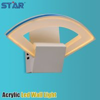 Wholesale 6109036WW SMD W Acrylic LED Wall Light Modern Home Decoration Lamps One Fan Shaped Design Warm White