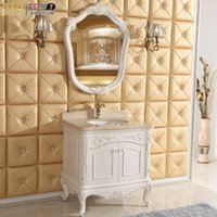 bathroom vanities wood - European oak bathroom cabinet wood floor bathroom cabinet ivory metal foot vanity cabinet bathroom cabinet wash station