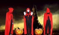 Wholesale Hot Halloween Adult capes Sorcerer Wizard Cosplay Costume Halloween Hooded Cloak Witch Grim Reaper Cosplay Costume Robe Cape