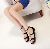 gladiator - Women Gladiator Flat Heel Sandals Ladies Summer Party Club Pleated Plus Size Casual Shoes USsize hg928