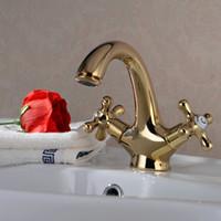 Wholesale Retro Golden Faucets Basin Mixer Tap Let your home hotel presents Noble Gorgeous G01