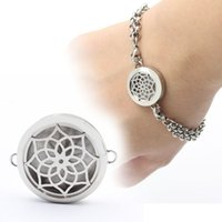 Wholesale 20mm mm mm L stainless steel bracelet locket with hollowed out flower face perfume locket free felt pads locket only