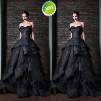aesthetics training - Aesthetic Design Black Wedding Dresses Rami Kadi Ball Gowns Court Train Apppliques Sweetheart Tiered Corset Bridal Dress Custom Made