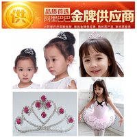 accessory export wholesale - Crown children baby hair accessories Korean fashion jewelry export red crown jewelry selling children s hair accessories