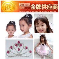 accessories export - Crown children baby hair accessories Korean fashion jewelry export red crown jewelry selling children s hair accessories