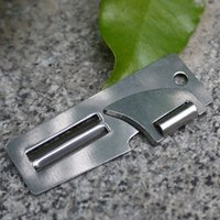 Wholesale E1157 High quality Foldable Small and sharp Stainless steel Two way planer tool Opener Can Open cans