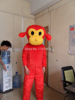 red monkey - 2015 monkey mascot costume fancy animal mascot costume for sale