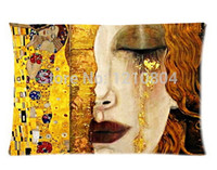 austria painting - Austria Symbolon Painting Artist Gustav Klimt X75cm Pillow Cover Cheap Pillowcases For Rest One Side Printed