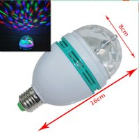 Wholesale XL14 RGB Full Color W E27 LED Bulb Crystal Auto Rotating Stage Effect DJ Light Bulb Mini laser Stage Light