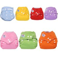 Wholesale Stylish Reusable Washable Adjustable Baby diaper Soft Cotton Diaper infant waterproof TPU film Nappy Dry Tender Care
