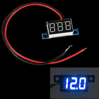 dc voltage panel meter - Mini Wires DC V LED Panel Digital Display Voltage Meter Voltmeter Yellow Green Red Blue Light Voltimetro